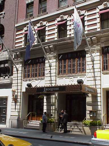 Pictures of the New York City Iroquois Hotel - Click Photo to go to the Search NYC Hotel New York Hotel List