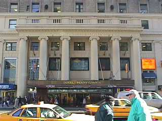 Pictures of the New York City Pennsylvania Hotel - Click Photo to go to the Search NYC Hotel New York Hotel List