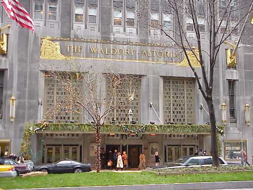 Waldorf - Astoria Hotel, New York City